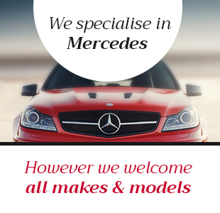 We specialise in Mercedes, however we welcome all makes and models
